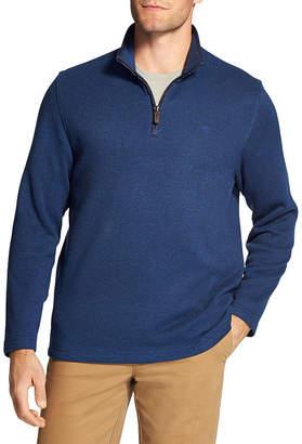 Izod Mens Mock Neck Long Sleeve Quarter-Zip Pullover