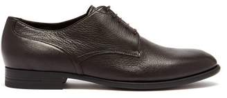 Ermenegildo Zegna Leather Derby Shoes - Mens - Black