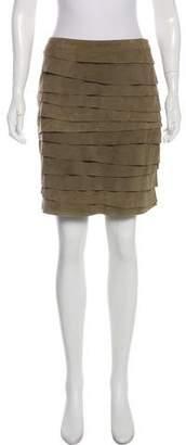 Ralph Lauren Suede Pleated Skirt
