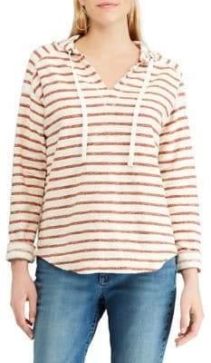 Chaps Petite Long Sleeve Hooded T-Shirt