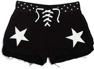 Flowers by Zoe Girls' Lace-Up Studded Star Shorts - Little Kid