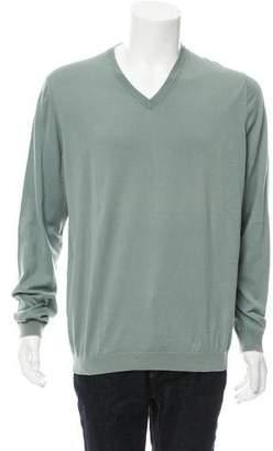 Brunello Cucinelli Rib Knit V-Neck Sweater