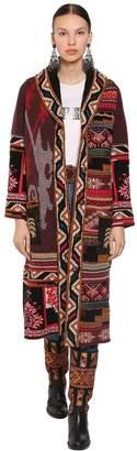 Etro Long Wool Blend Knit Coat