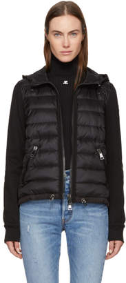 Moncler Black Down and Jersey Jacket