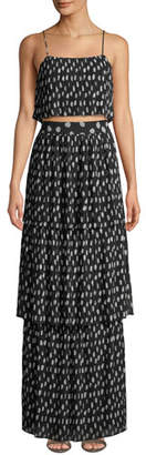 Fame & Partners The Romero Two-Piece Crop Top & Skirt Set
