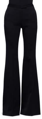 Alexander McQueen High-Waist Flare-Leg Pants, Black $885 thestylecure.com