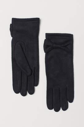 H&M Fine-knit Gloves - Black