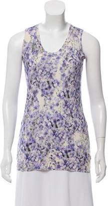 Giambattista Valli Silk-Cashmere Floral Print Sweater