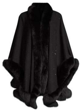 Sofia Cashmere Fox Fur& Cashmere U-Cape