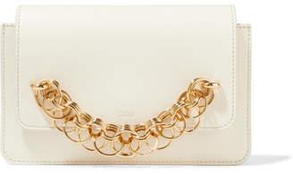 Chloé Drew Bijou Leather Clutch - Ivory