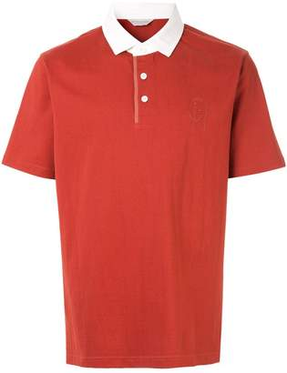 Gieves & Hawkes contrast collar polo shirt