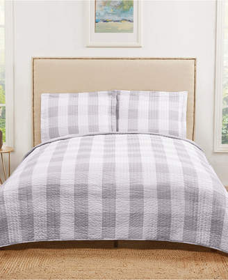 Pem America Truly Soft Everyday Buffalo Plaid Twin Xl Quilt Set