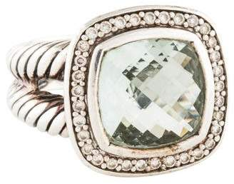David Yurman Albion Prasiolite & Diamond Cocktail Ring