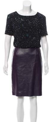 Chris Benz Sequin Leather Dress