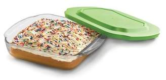 Libbey Baker's Basics Square Glass Casserole Baking Dish with Plastic Lid, 8-inch by 8-inch