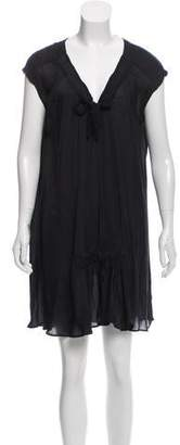 Nina Ricci Scoop Neck Mini Dress