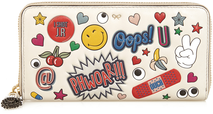 Anya HindmarchANYA HINDMARCH All Over Stickers zip-around leather wallet