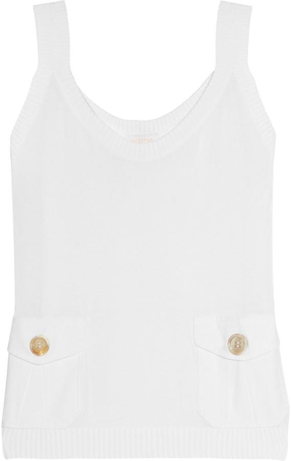 Valentino Roma Fine-knit camisole