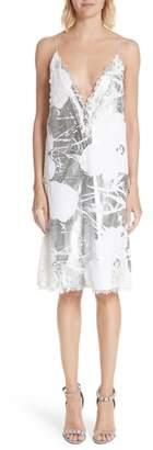 Calvin Klein x Andy Warhol Foundation Foil Flowers Slipdress