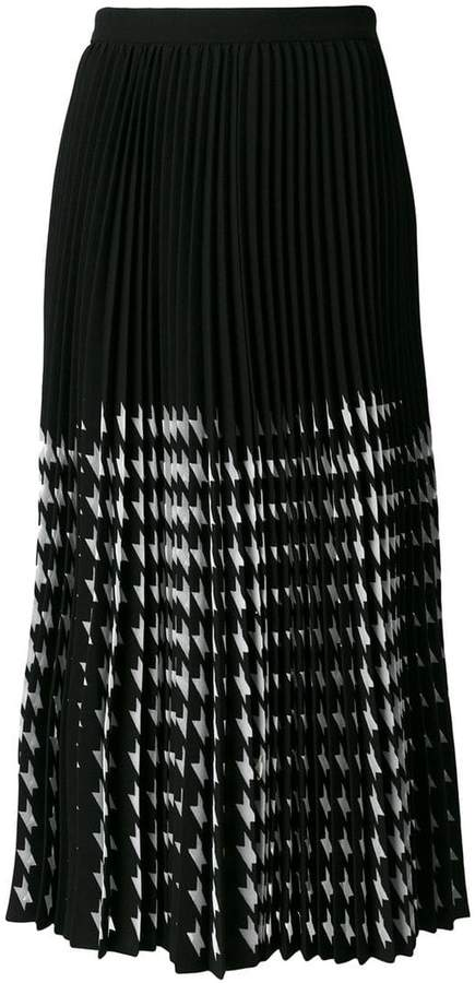 MSGM midi pleated skirt