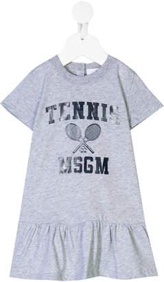 MSGM tennis print dress