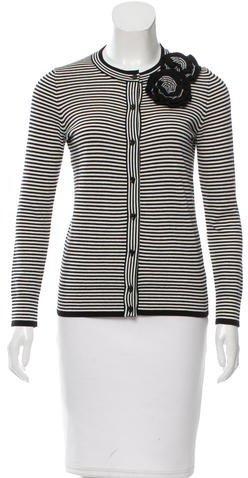 Kate SpadeKate Spade New York Striped Knit Cardigan