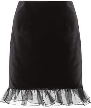 ALEXACHUNG Velvet miniskirt