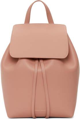 Mansur Gavriel Pink Mini Leather Backpack