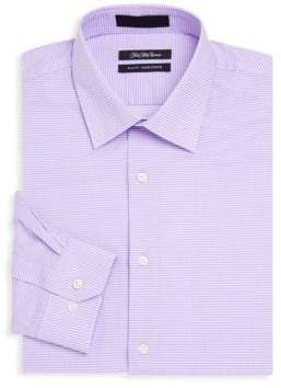Saks Fifth Avenue Slim-Fit Two-Way Stripe Cotton Dress Shirt