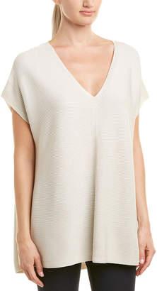 Lafayette 148 New York V-Neck Relaxed Silk-Blend Sweater