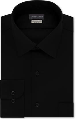 Van Heusen Men Classic/Regular Fit Stretch Wrinkle Free Sateen Dress Shirt