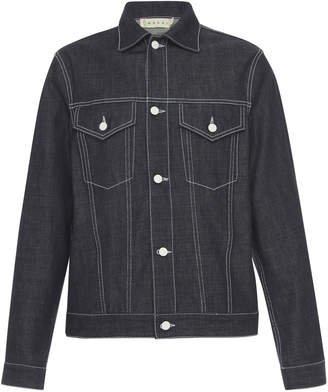 Marni Printed Unwashed Denim Jacket
