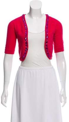 Marc Jacobs Wool Embellished-Accented Shrug