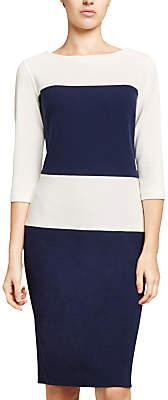 Winser London Crepe Jersey Colour Block Shift Dress