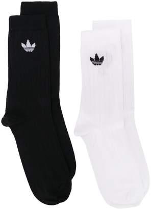 adidas set of two Trefoil logo socks