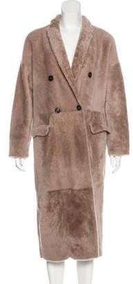 Brunello Cucinelli Reversible Shearling Coat