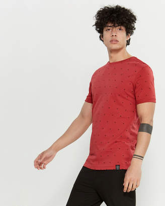 Kultivate Dot Cuffed Short Sleeve Tee