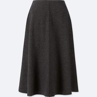 Uniqlo Women's Wool-blend High-waisted Flared Skirt