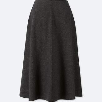 Uniqlo Women's Wool-blend High-waisted Flared Skirt