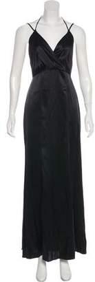 L'Agence Silk Sleeveless Maxi Dress