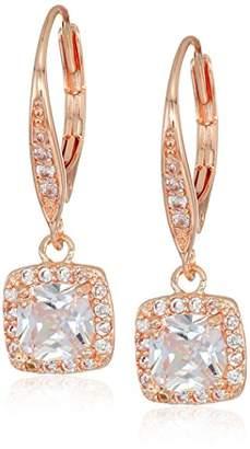 Anne Klein Classics Pe Single Stone Drop Earrings
