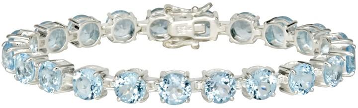 Ice.com 33 Carat Sky Blue Topaz Sterling Silver Bracelet