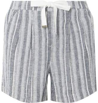 Dorothy Perkins Womens **Tall Black Striped Linen Shorts