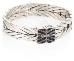 John Hardy Modern Chain Black Sapphire, Black Spinel & Silver Bracelet