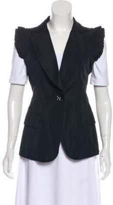 Thomas Wylde Pleated Notch-Lapel Vest