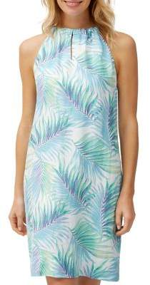7273af776a9 Tommy Bahama Leinani Leaves Linen Halter Dress