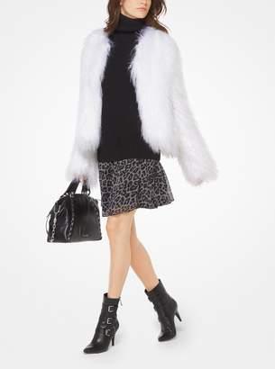 MICHAEL Michael Kors Long-Hair Mongolian Fur Coat