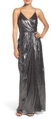 Women's Vera Wang Metallic Gown $368 thestylecure.com