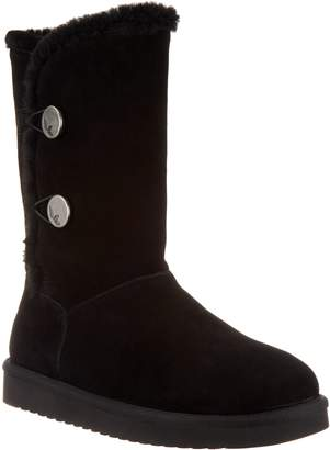Koolaburra By Ugg by UGG Suede Button Tall Boots - Kinslei