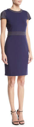 MICHAEL Michael Kors Domed Cap-Sleeve Dress